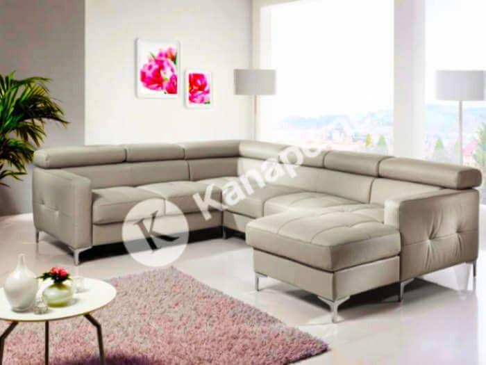 Sammy U bőr kanapé - U alakú kanapé