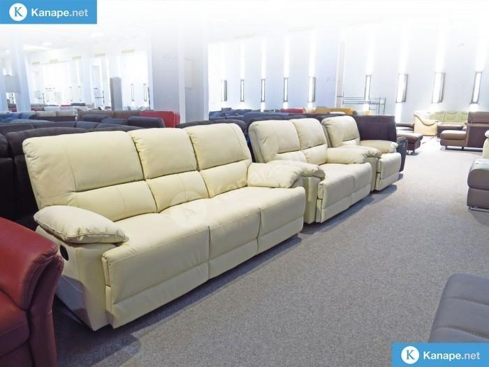 Buffalo Fehér Bőr Relax kanapé 3-2-1 szettben -