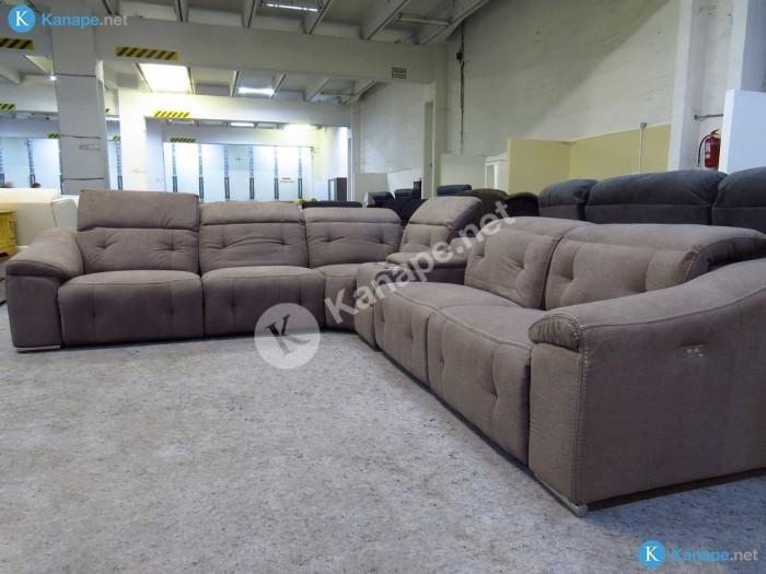 Kingdom motoros relax ülőgarnitúra USB töltővel - Nagyméretű kanapé
