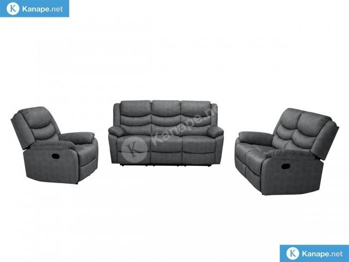 Bella 3-2-1 Szürke ülőgarnitúra szett - Luxus kanapé