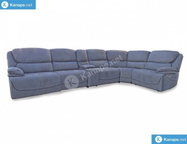 Stark motoros relaxos szürke sarok kanapé