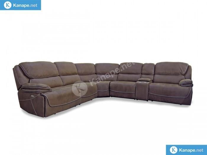 Stark motoros relaxos barna sarok kanapé - Ülőgarnitúra