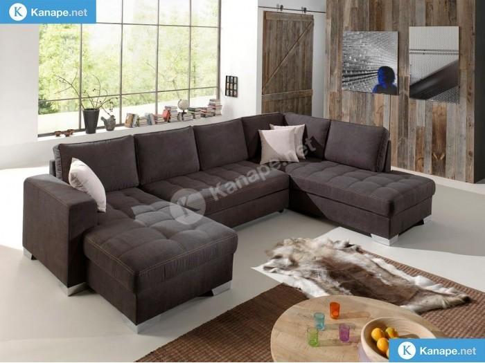 Arles U kanapé - Textilbőr kanapék