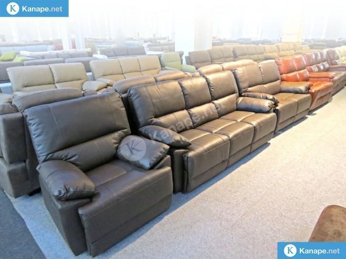 Buffalo Barna Bőr Relax kanapé 3-2-1 szettben - Sarokkanapék és ülőgarnitúrák