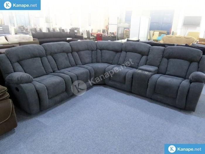Las Vegas Szürke relaxos sarok kanapé - Luxus kanapé