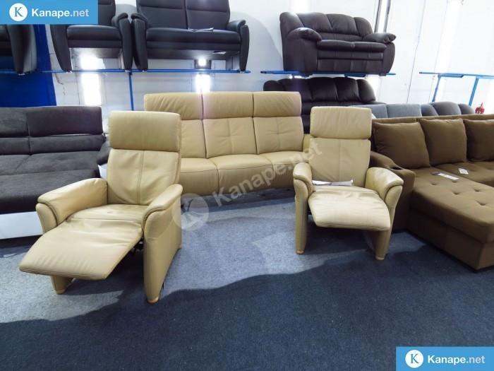Lotus 3-1-1 bőr ülőgarnitúra relax fotellel - Sarokkanapék és ülőgarnitúrák