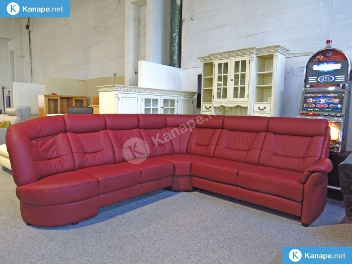 Sardinien prémium relax bordó bőr ülőgarnitúra - Luxus ülőgarnitúra