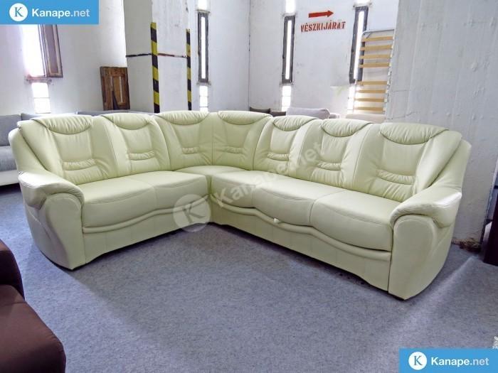 Benzon ágyazaható textilbőr sarok kanapé - Német import