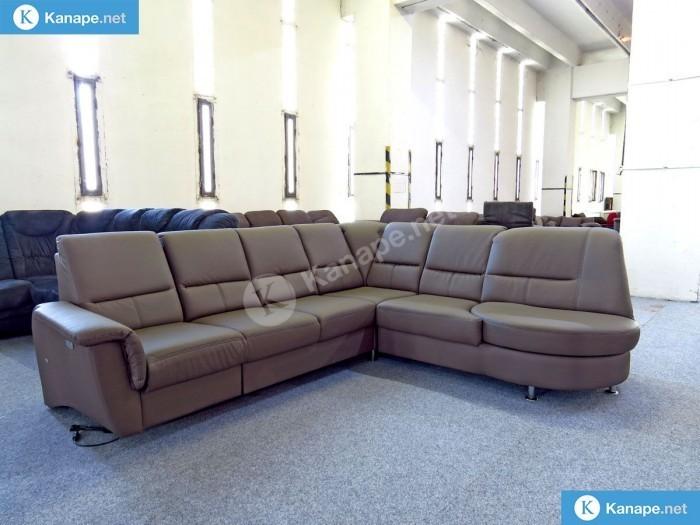 Parole motoros relax sarokkanapé textilbőrből - Textilbőr kanapék