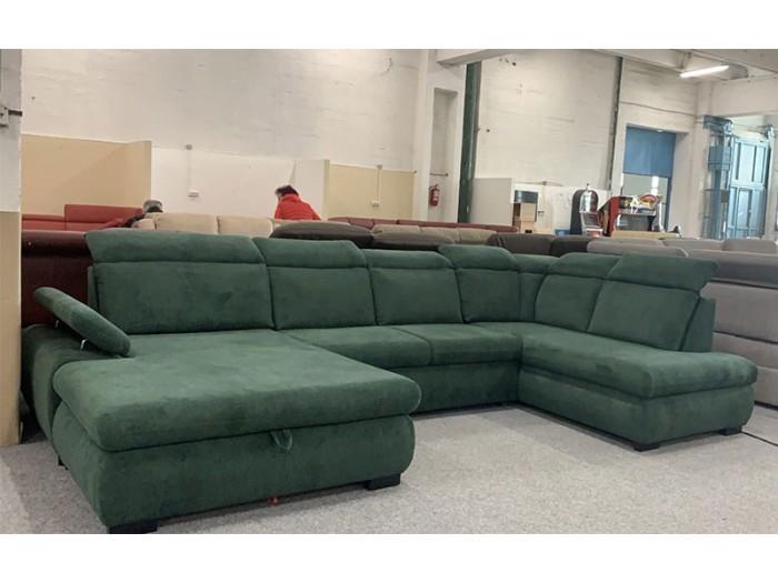 Bari U formájú kanapé - Zöld kanapék