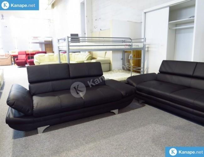 Enterprise egyenes kanapé valódi bőrből