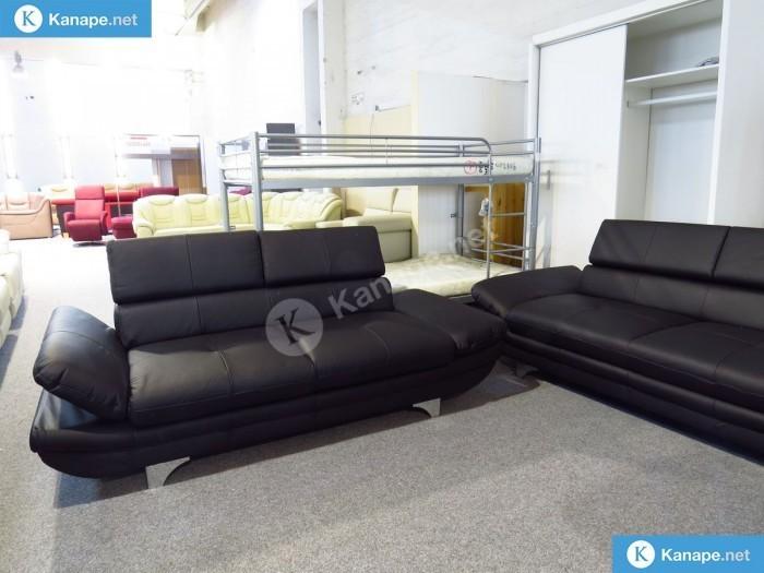 Enterprise egyenes kanapé valódi bőrből - Bőr ülőgarnitúra
