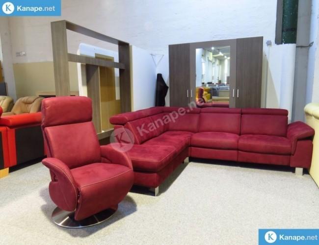 Lava bordó sarokkanapé és fotel