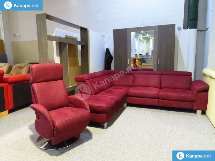 Lava bordó sarokkanapé és fotel - Bordó és piros kanapék