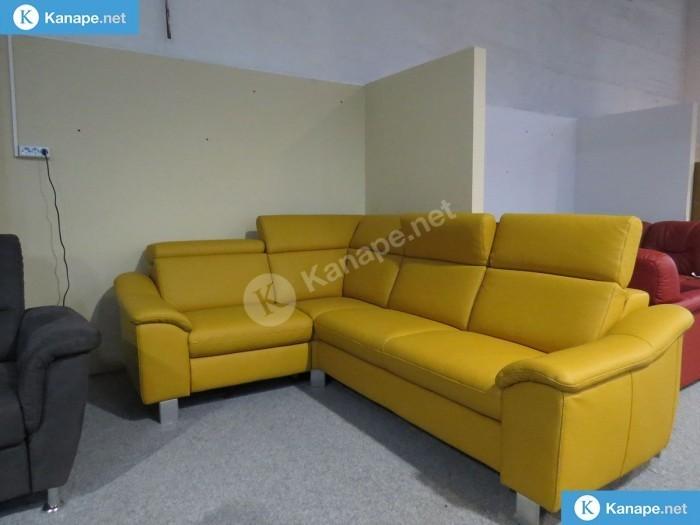 Lido System sárga bőr sarokkanapé - Relax bőr kanapék