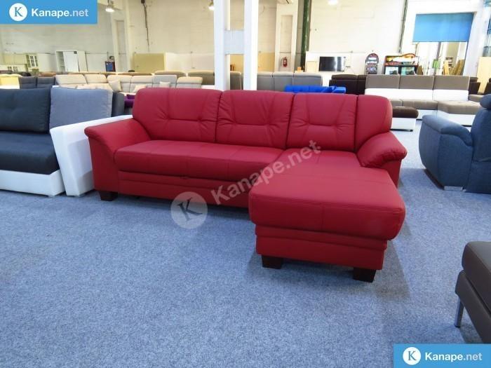 Lorca valódi bőr sarokkanapé - Színes kanapék