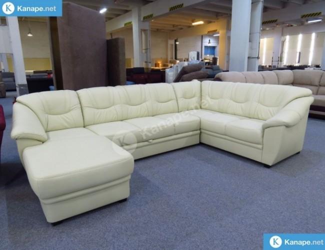 Savona U alakú textilbőr kanapé