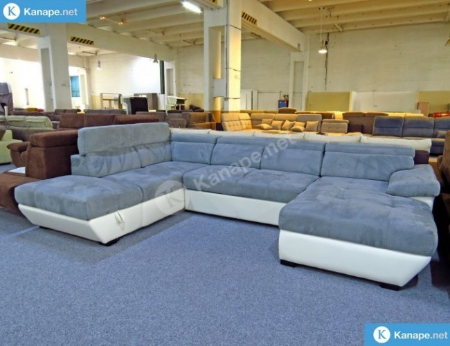 Speedway U alakú ágyazható tárolós kanapé