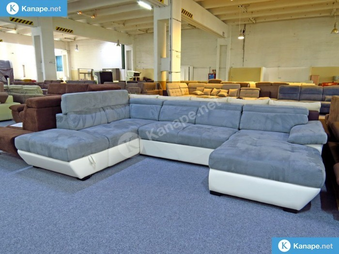 Speedway U alakú ágyazható tárolós kanapé -