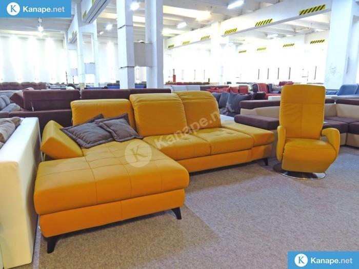 Torino bőr sarokkanapé és fotel - Bőr sarokkanapé