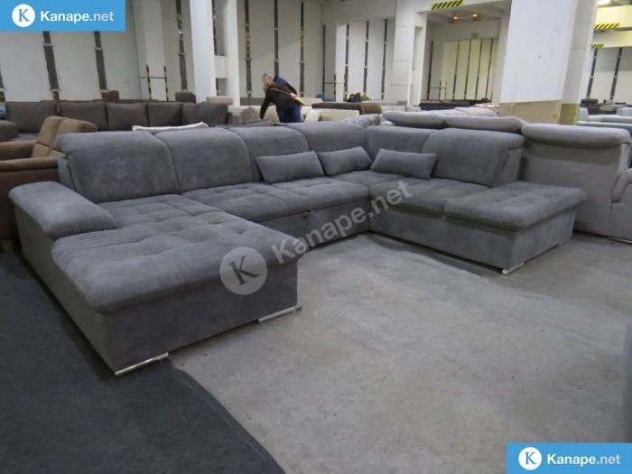Wayne U alakú szürke kanapé - Luxus kanapé