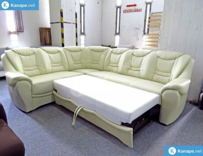 Benzon ágyazaható textilbőr sarok kanapé