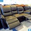 Buffalo Amy Fekete Bőr Relax kanapé 3-2-1 szettben