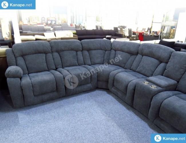Las Vegas Szürke relaxos sarok kanapé