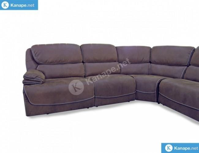 Stark motoros relaxos barna sarok kanapé
