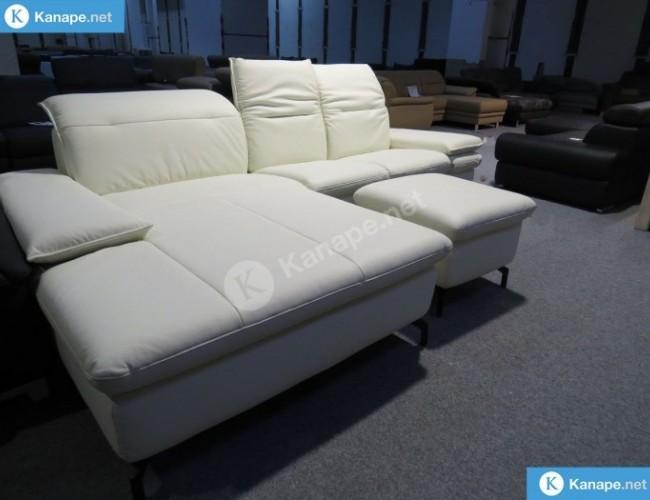Tivoli bőr sarokkanapé és fotel