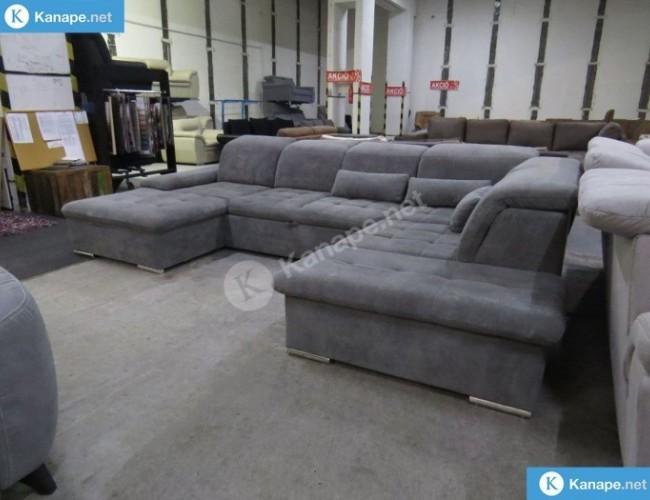 Wayne U alakú szürke kanapé