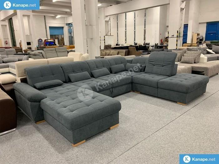 Nopoly U formájú szürke kanapé - Ülőgarnitúra
