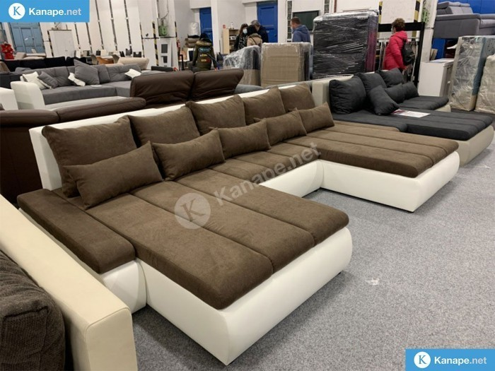 U alakú kanapé sokféle színben - Összes termék