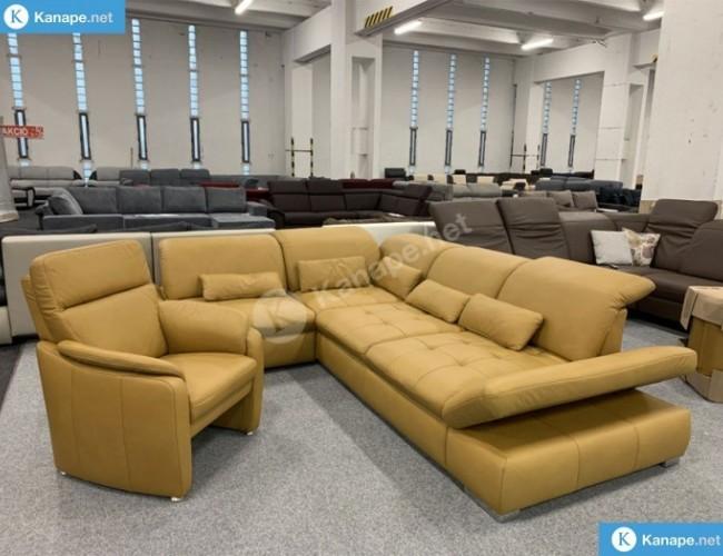 Vito Fulla bőr sarokkanapé és fotel