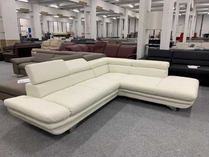 Enterprise textilbőr sarok kanapé - Fehér kanapék