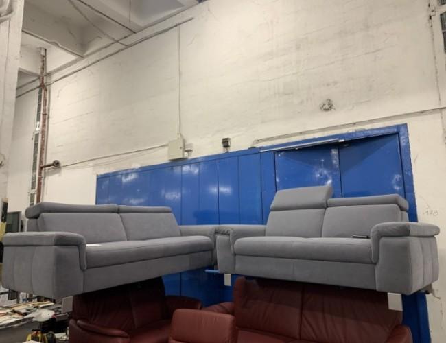 Lava 3 + 2 szürke szövet kanapé