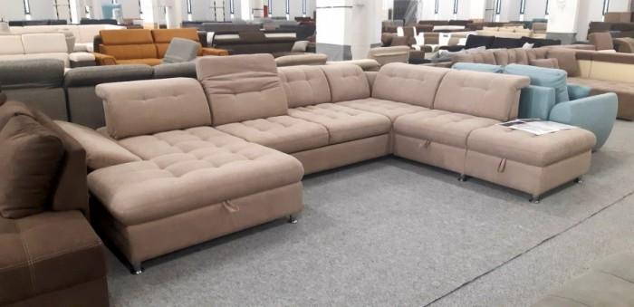 Artemis U formájú ágyazható kanapé - Luxus ülőgarnitúra