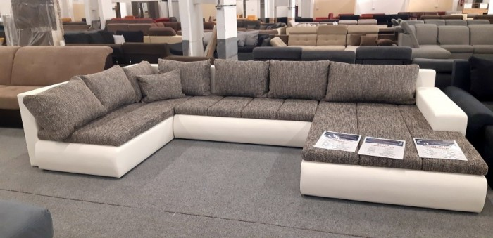 Alessia U formájú ágyazható kanapé - Luxus ülőgarnitúra