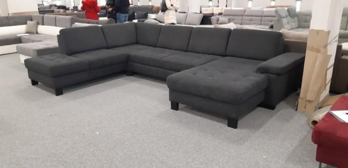 Puzzle U formájú sötétszürke kanapé - Luxus ülőgarnitúra