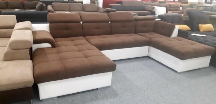Monza U formájú modern kanapé - Luxus kanapé