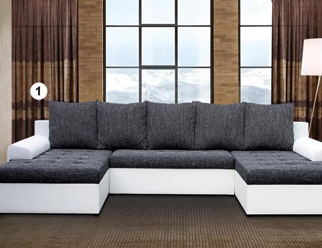Loras U formájú szövet-textil kanapé