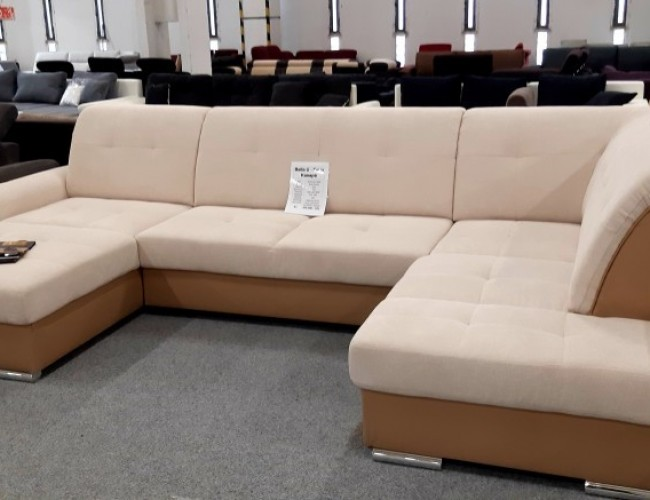 Bella U alakú bézs kanapé