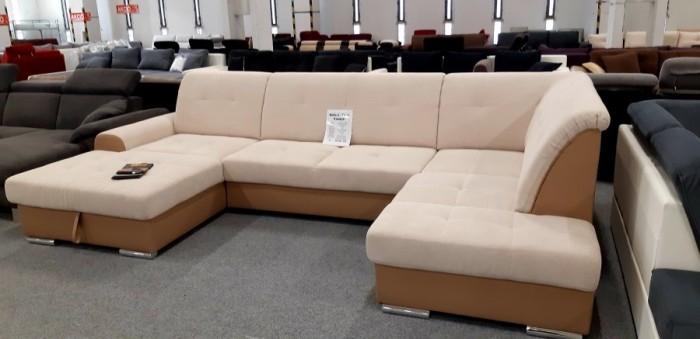 Bella U alakú bézs kanapé - Kanapék nagy színválasztékban