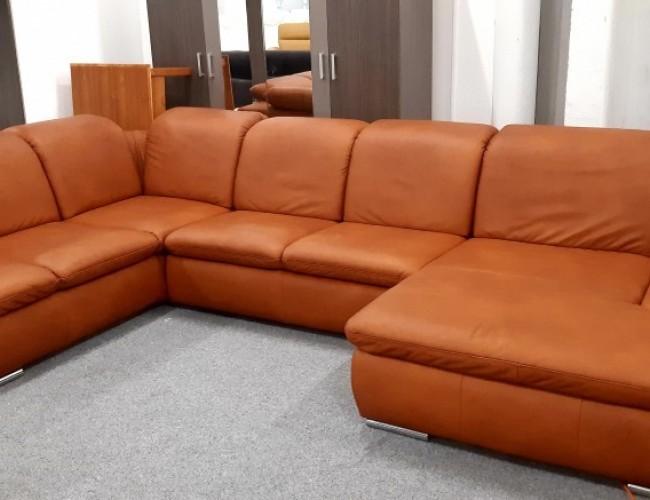 Santos mélybarna U formájú kanapé