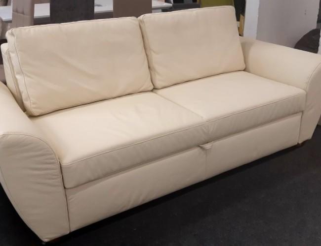 Multiflex valódi bőr bézs kanapé