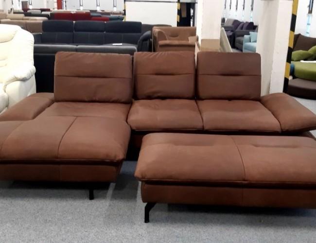 Pasadena barna bőr kanapé