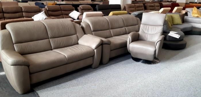 Multi motion bőrszett fotellel - Ülőgarnitúra