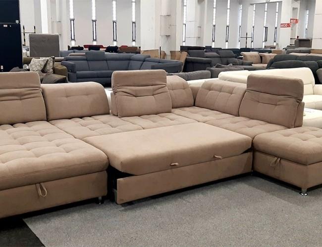 Artemis U formájú ágyazható kanapé