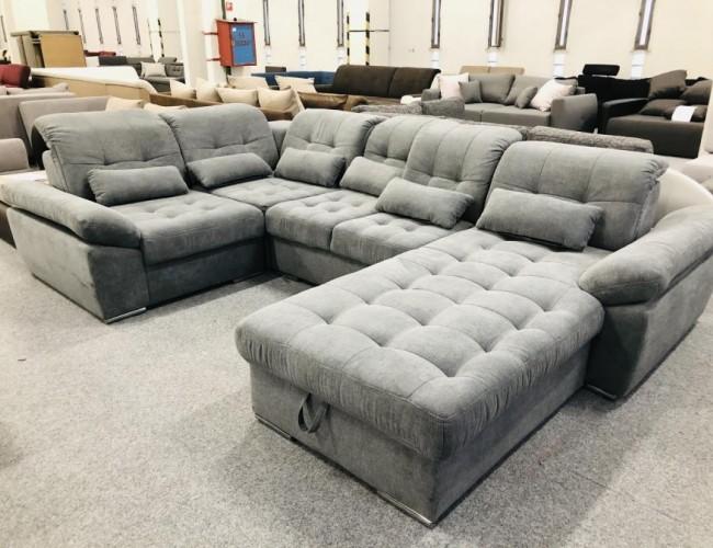 Nopoly U alakú tárolós kanapé