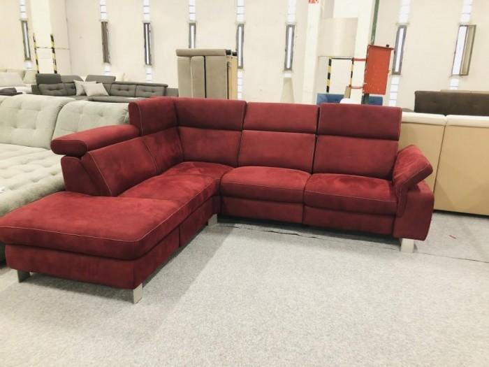 Lava piros sarokkanapé - Színes kanapék